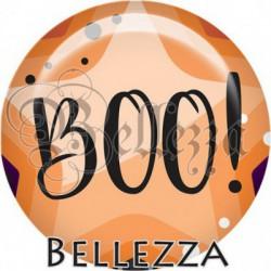 Cabochon verre, cabochon resine, halloween, boo, orange et violet