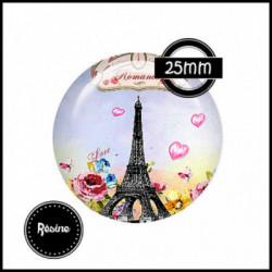 25mm RESINE, 1 Cabochons  en résine  Ref 8559Paris,rétro,retro,romantique,vintage,multicolore ,offrir,cadeau,création bijoux cabochons