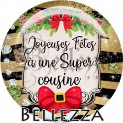 Cabochon verre, cabochon resine, joyeuses fêtes, noël, safari, doré, festif, cousine, famille