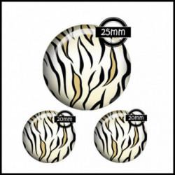 Parure 25MM-20mm VERRE, 3 Cabochons  en verre  Ref 1665Savane,afrique,animaux,tigre,,multicolore ,offrir,cadeau,création bijoux cabochons