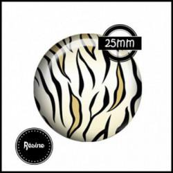 25mm RESINE, 1 Cabochons  en résine  Ref 1665Savane,afrique,animaux,tigre,,multicolore ,offrir,cadeau,création bijoux cabochons