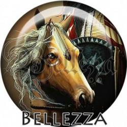 Cabochon verre, cabochon resine, cheval, chevaux, animaux