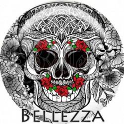 Cabochon verre, cabochon resine, tête de mort, skull, gothique