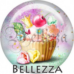 Cabochon verre, cabochon resine, cupcake, pâtisserie, gourmandises, gâteaux