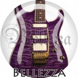Cabochon verre, cabochon resine, guitare, musique