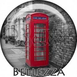 Cabochon verre, cabochon resine, london, téléphone, vintage, rétro