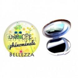 Miroir de poche compact, 58mm, coffret cadeau inclus, cadeau personnalisé, cpe phénoménale, scolaire