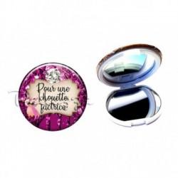 Miroir de poche compact, 58mm, coffret cadeau inclus, cadeau personnalisé, pour une chouette, factrice