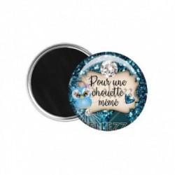Magnet, aimant, 58mm, coffret cadeau inclus, cadeau personnalisé, pour une chouette mémé, famille