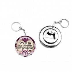 Décapsuleur, porte clés, 58mm, coffret cadeau inclus, cadeau personnalisé, nounou, enfant