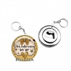 Décapsuleur, porte clés, 58mm, coffret cadeau inclus, cadeau personnalisé, une belle-mère en or