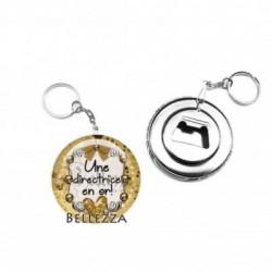 Décapsuleur, porte clés, 58mm, coffret cadeau inclus, cadeau personnalisé, une directrice en or