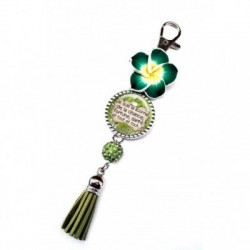 Porte clés, bijoux de sacs, coffret cadeau inclus, cadeau personnalisé, exotique, fleur, pompon, je la licorne de la chance, saint patrick