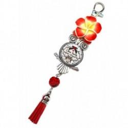 Porte clés, bijoux de sacs, coffret cadeau inclus, cadeau personnalisé, exotique, fleur, pompon, tante, famille