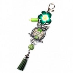 Porte clés, bijoux de sacs, coffret cadeau inclus, cadeau personnalisé, exotique, fleur, pompon, institutrice, scolaire