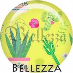 Cabochon verre, cabochon resine, cactus, été, exotique, tropical, nature
