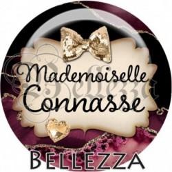Cabochon verre, cabochon resine, mademoiselle connasse, texte langage familier
