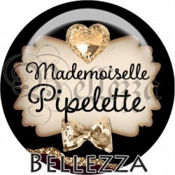 Cabochon verre, cabochon resine, mademoiselle pipelette, texte fantasque, fashion