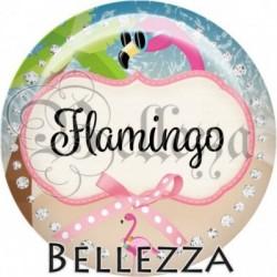 Cabochon verre, cabochon resine, flamant rose, animaux, flamingo, été, mer