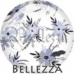 Cabochon verre, cabochon resine, farandole, illustration, couleur bleu marine, blanc, rose