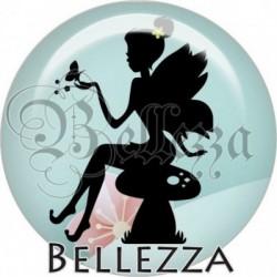 Cabochon verre, cabochon resine, fée, fairy, fantasy, magique