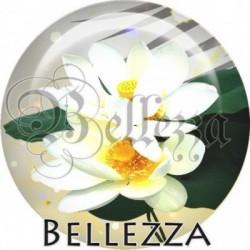 Cabochon verre, cabochon resine, fleur, nature