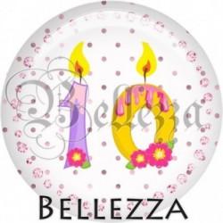Cabochon verre, cabochon resine, anniversaire, bougie 10 ans, chiffre, numero, fille
