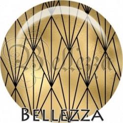 Cabochon verre, cabochon resine, doré, noir, illustration, géométrique, chic