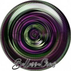 Cabochon verre, cabochon resine, boho, spirale, tourbillons, swirl, multicolore