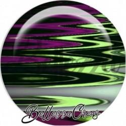 Cabochon verre, cabochon resine, boho, vagues fashion, multicolore