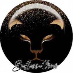 Cabochon verre, cabochon resine, doré, noir, gold, glitters, fashion chic, fêtes