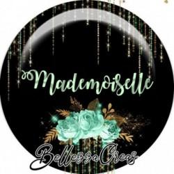 Cabochon verre, cabochon resine, mademoiselle, fashion