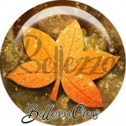 Cabochon verre, cabochon resine, automne, feuille, arbre, nature, orange et marron