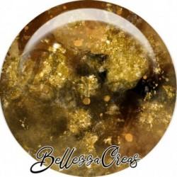 Cabochon verre, cabochon resine, automne, doré marron, abstrait