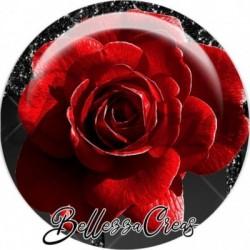 Cabochon verre, cabochon resine, rouge et noir, chic, farandoles, fashion