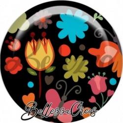Cabochon verre, cabochon resine, peace and love, zen, illustration