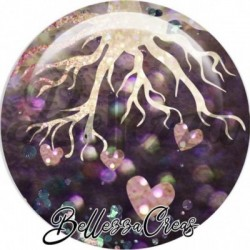 Cabochon verre, cabochon resine, nature, arbre, arbre de vie, forêt