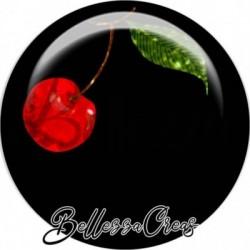 Cabochon verre, cabochon resine, cerise, nature, fruit