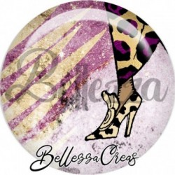 Cabochon verre, cabochon resine, chaussures, illustration
