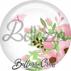 Cabochon verre, cabochon resine, fleurs, nature