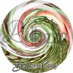 Cabochon verre, cabochon resine, boho, spirale, tourbillon, fashion