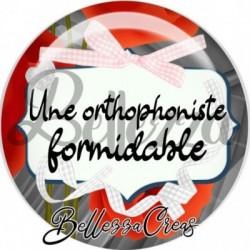 Cabochon verre, cabochon resine, orthophoniste, médical
