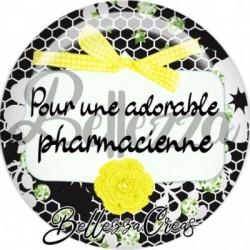 Cabochon verre, cabochon resine, pharmacienne, médical