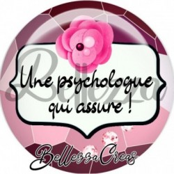 Cabochon verre, cabochon resine, psychologue, médical