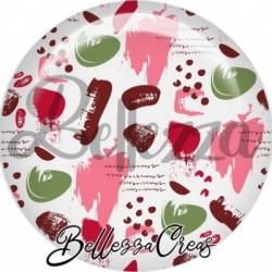 Cabochon verre, cabochon resine, farandole couleur rose, marron, vert