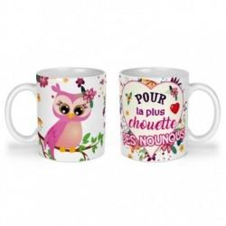Mug, tasse en céramique, pour la plus chouette des nounous, cadeaux, plaisir d'offrir
