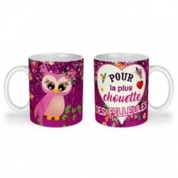 Mug, tasse en céramique, pour la plus chouette des filleules,cadeaux, plaisir d'offrir