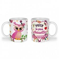 Mug, tasse en céramique, pour la plus chouette des mamans, fête des mères, cadeaux, plaisir d'offrir