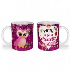 Mug, tasse en céramique, pour la plus chouette des mamies, fête des mères, cadeaux, plaisir d'offrir