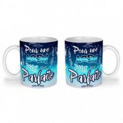Mug, tasse en céramique, une aesh plus que parfaite, bleu céleste, cadeaux, plaisir d'offrir